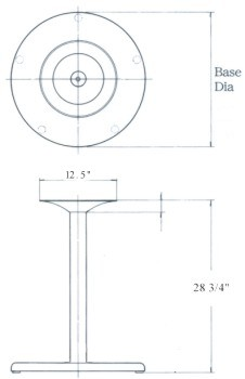 Stainless Steel Table Base Drawing