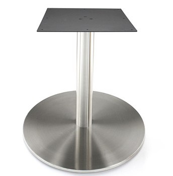 Large Stainless Steel Table Base with Stainless Steel Column