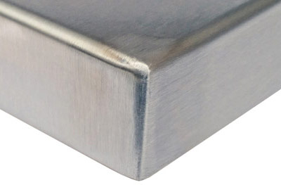 Stainless Steel Table Top Corner Detail