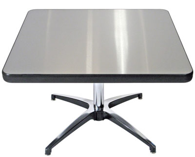 Square Vinyl Edge Stainless Steel Table Top