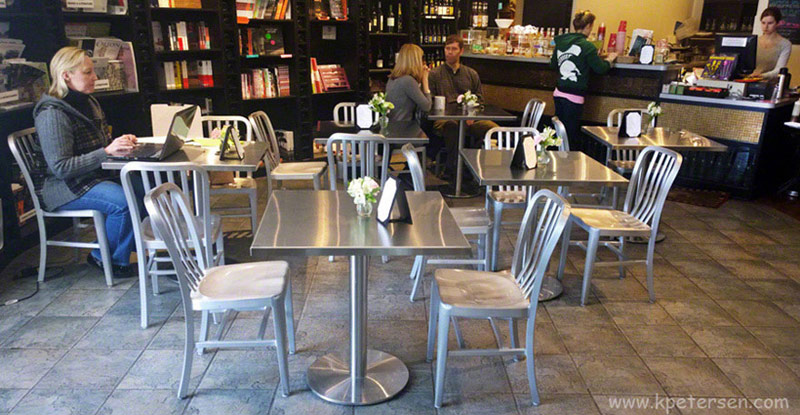 Stainless Steel Table Top Bookshop Cafe Installation