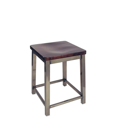 Backless Square Seat Activity Stool Wood Seat