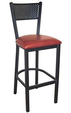 Steel Mesh Back Bar Stool