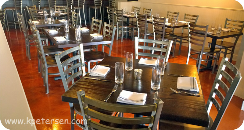 Alto Steel Restaurant Chair Installation Photo