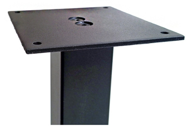 Stainless Steel Table Leg 3 Inch Square Top Plate Detail