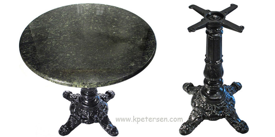 Victorian Style Antique Reproduction Large Crossfoot Ornate Cast Iron Table Base Detail Photos