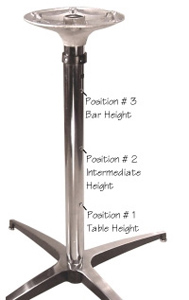 Three Position Adjustable Height Table Base