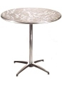 Slip together table base chrome and polished aluminum