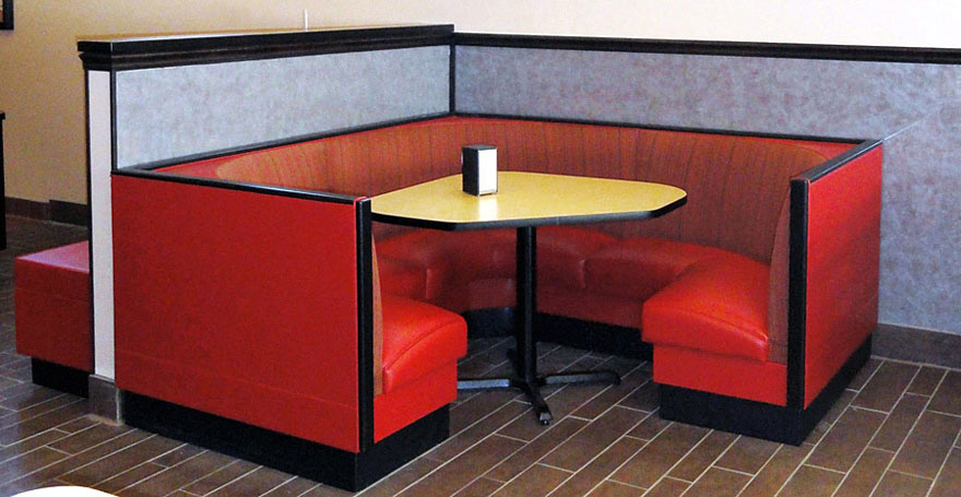 Three Quarter Circle Restaurant Booth