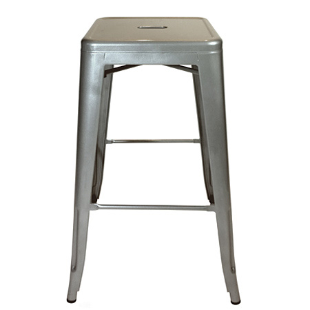 Backless Outdoor Steel Bar Stool Detail