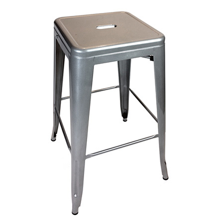 Backless Outdoor Steel Bar Stool