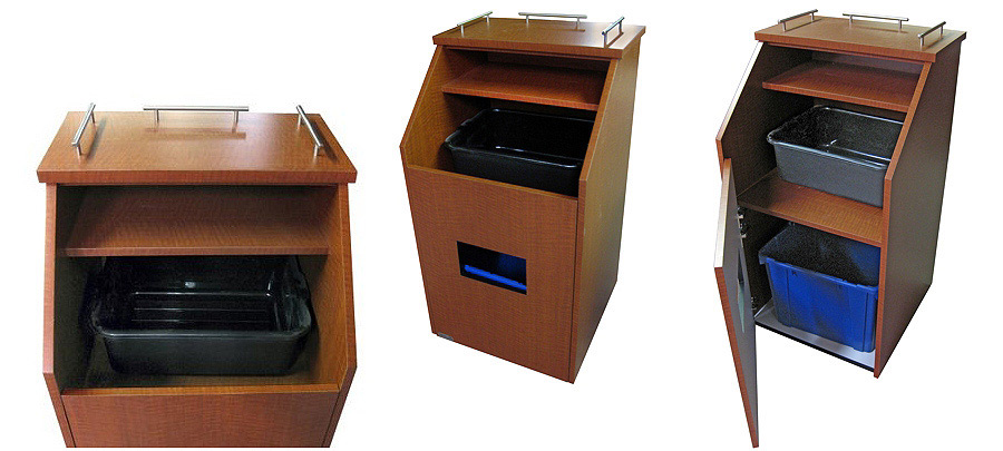 Matching Top Drop Style Bussing Station Cabinet