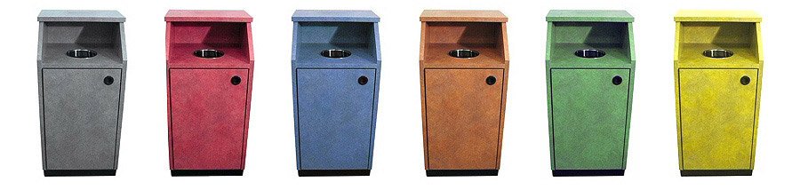 Top Drop Waste Receptacles Available Any Plastic Laminate