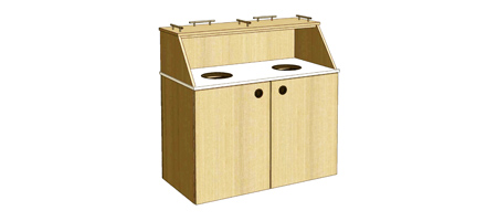 Top Drop Double Waste Receptacle Cabinet