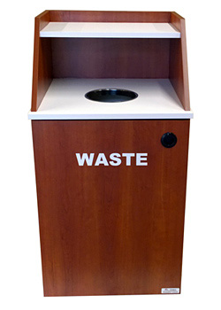 Single Top Drop Waste Receptacle Recycle Cabinet