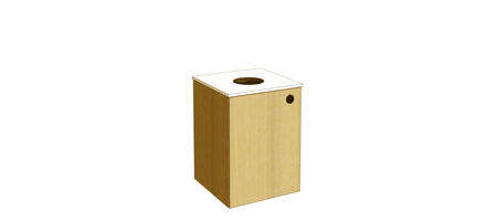 Two Tone Top Drop Waste Receptacle Cabinet