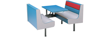 All Laminated Plastic And Upholstered Deluxe Restaurant Booths