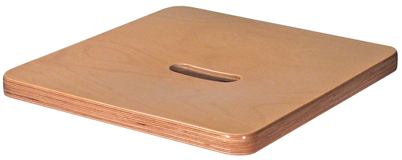 Beech Veneer Seat With Hand Hold Detail