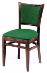 Vertical slatback Chair with Deluxe Upholstered Back