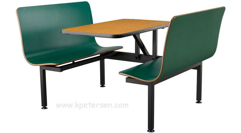 Vinyl T Molding Laminated Plastic Booth Table
