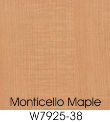 Monticello Maple Plastic Laminate Selection