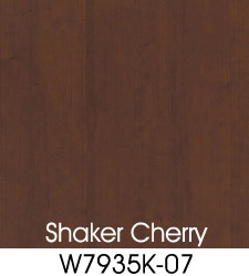 Shaker Cherry Plastic Laminate Selection
