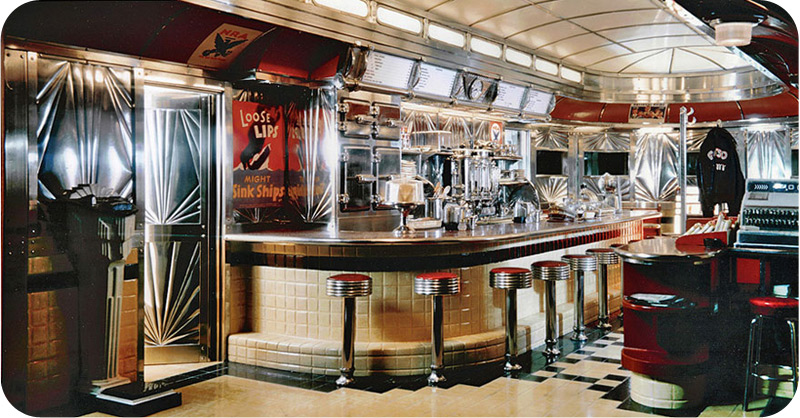 Wartime Diner Main Interior View