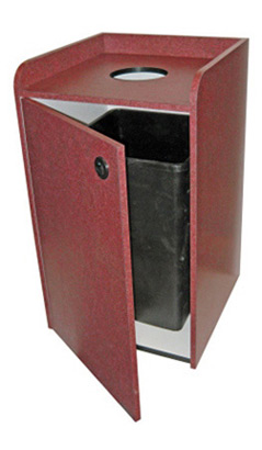 Coffee Shop Top Drop Waste Receptacle Door Open