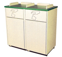 Decorator Double Waste Container