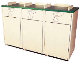 Decorator Triple Waste Container
