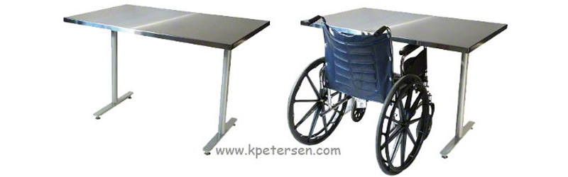 Wheelchair Accessible Restaurant Table with Wheelchair