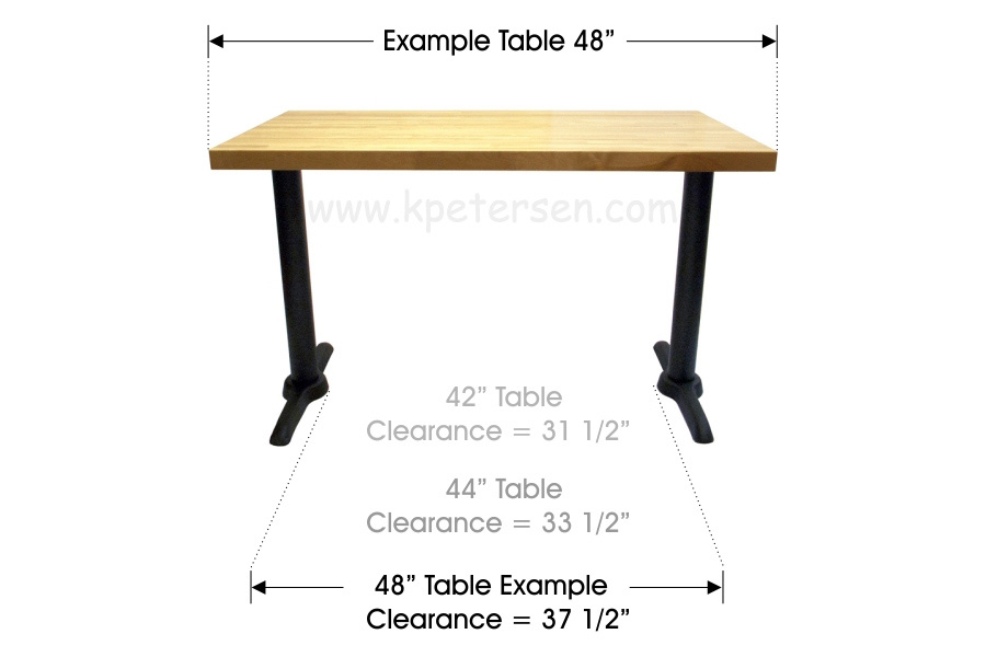 Wheelchair Accessible Restaurant Table Bases 48 Inch Top