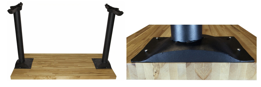 Wheelchair Accessible Restaurant Table Bases Underside View