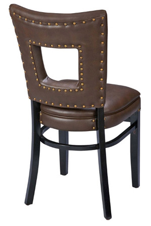 Window Seat Wood Restaurant Chair Rear View