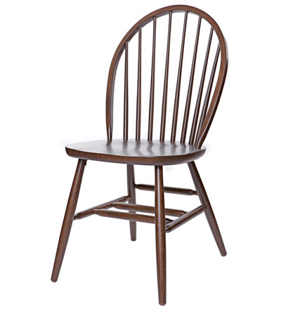 Early American, Windsor Style Wood Restaurant Dining Room Chair Wood Seat