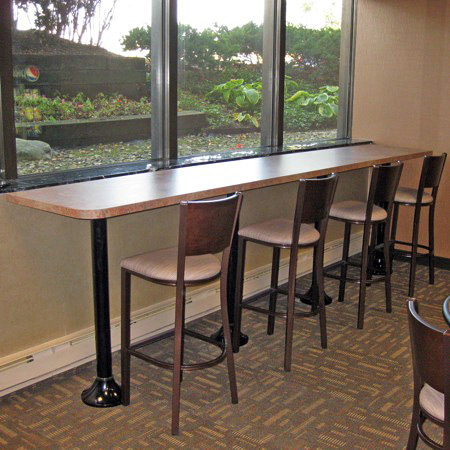 Wood Back Steel Bar Stools Installation