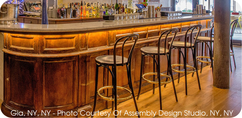 Upholstered Wood Bar Stools Installation
