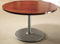 Wood Dropleaf Table Round