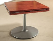 Wood Dropleaf Table Square