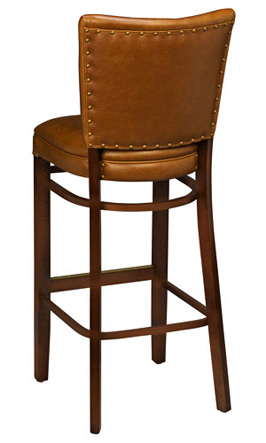 Reprise Wooden Bar Stool Rear View