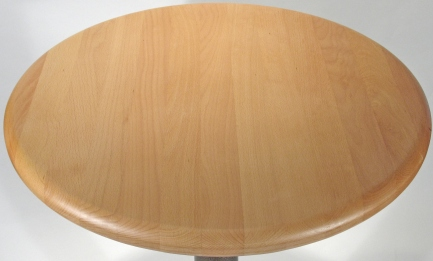 Wood Restaurant Table Round Detail