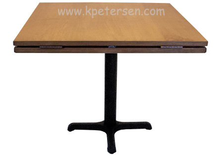 Wood Veneer Dropleaf Restaurant Table Square
